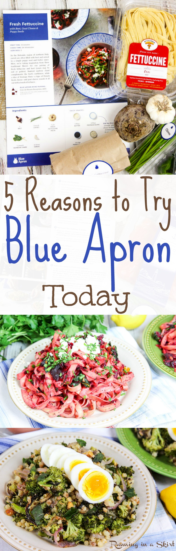 5 Reasons to Try Blue Apron Today - Why Blue Apron? -- Honest Reviews for Blue Apron / Running in a Skirt