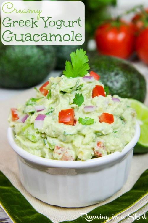 Healthy & Creamy Greek Yogurt Guacamole recipe / Running in a Skirt