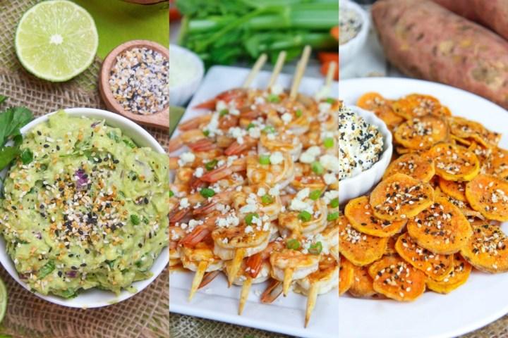Healthy Super Bowl Snacks collage