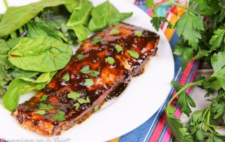 Healthy Balsamic Glazed Salmon recipe/ Running in a Skirt