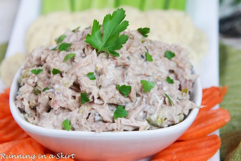 Healthy 3 ingredient Greek Yogurt Tuna Salad recipe / Running in a Skirt