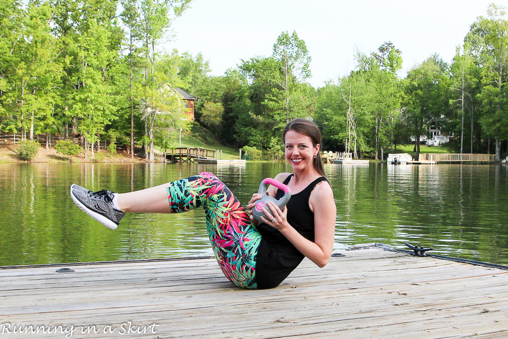 Kettlebell Full Body Workout at home details at Running in a Skirt / Running in a Skirt