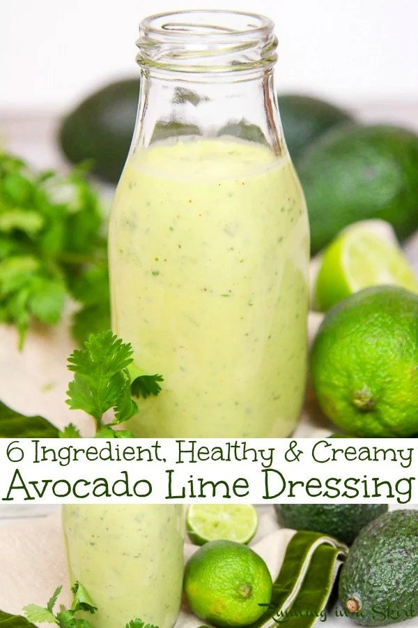 Avocado Lime Pinterest Pin collage.
