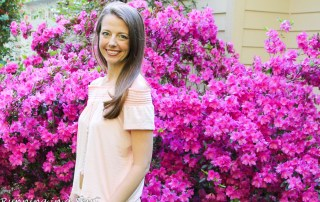 Pale Pink Cold Shoulder Skirt & White Jeans / Running in a Skirt