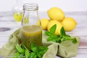 Basil Vinaigrette Salad Dressing recipe / Running in a Skirt