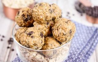 4 Ingredient No Bake Peanut Butter Bites recipe