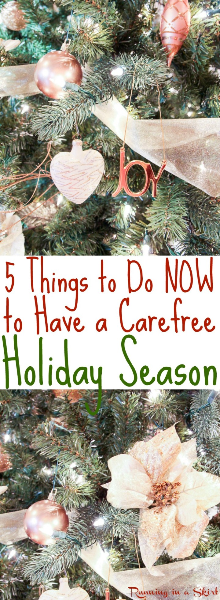 5 Things to Do Now to Have a Carefree Holiday Season- ways to prepare in fall for a stress free holiday including simple tips to get through holiday stress with ease. / Running in a Skirt via @juliewunder