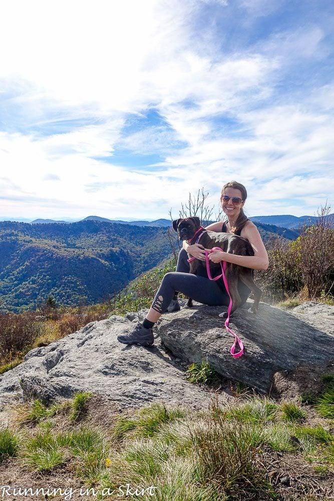 Sam Knob Hike near Asheville NC / Running in a Skirt