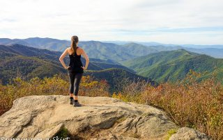 Sam Knob Hike near Asheville NC / Running in a Skirt