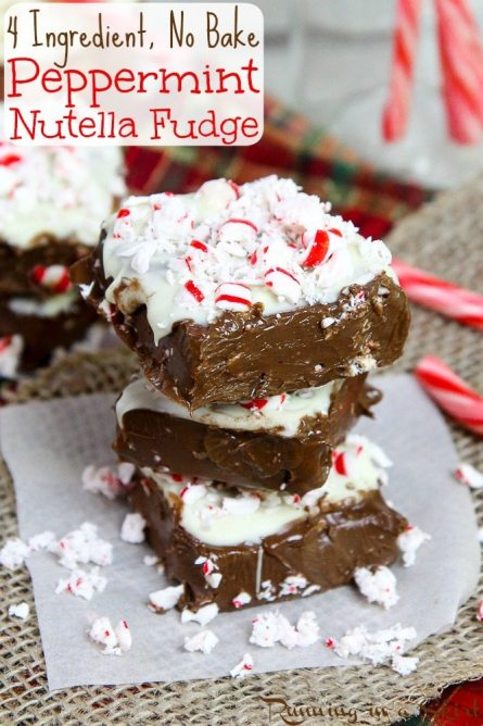 No Bake Peppermint Fudge / Running in a Skirt
