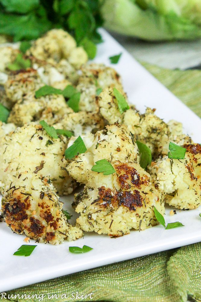 Roasted Parmesan Ranch Cauliflower recipe