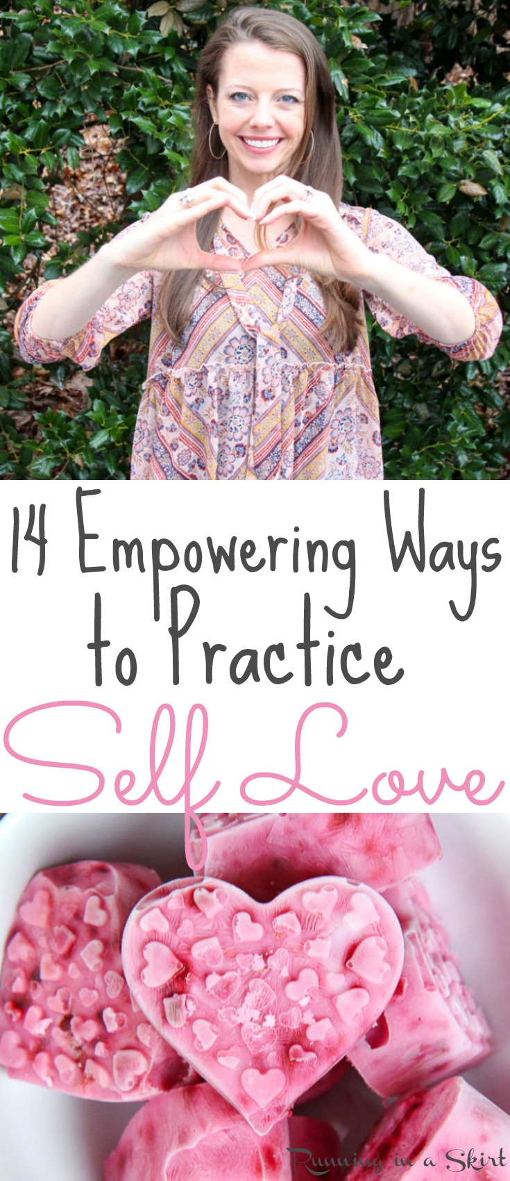 14 Empowering Ways to Practice Self Love.  Tips, inspiration and activities to practice taking time for yourself. Includes a routine / list for self care that can get you back on track to recovery, positivity and happiness./ Running in a Skirt via @juliewunder