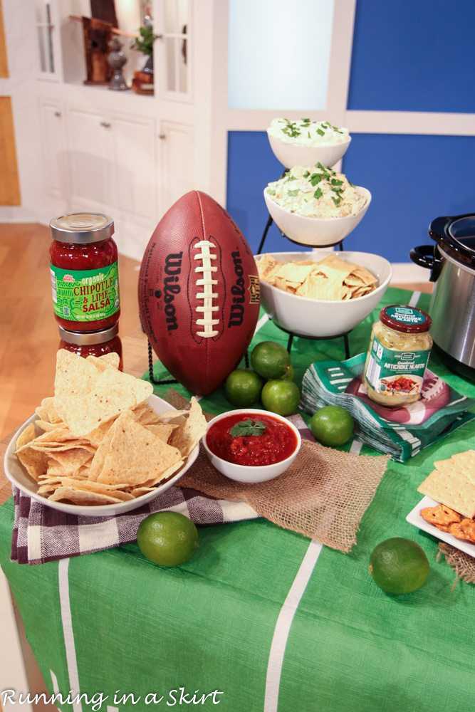 ALDI Super Bowl Party for Less / Running in a Skirt
