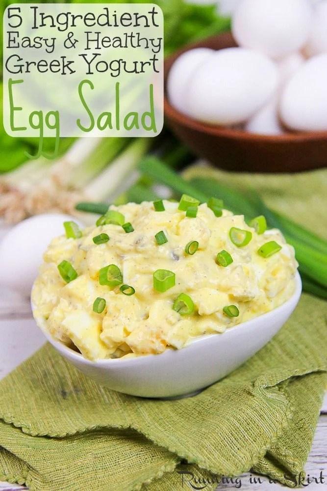 5 Ingredient Egg Salad Recipe with Greek Yogurt