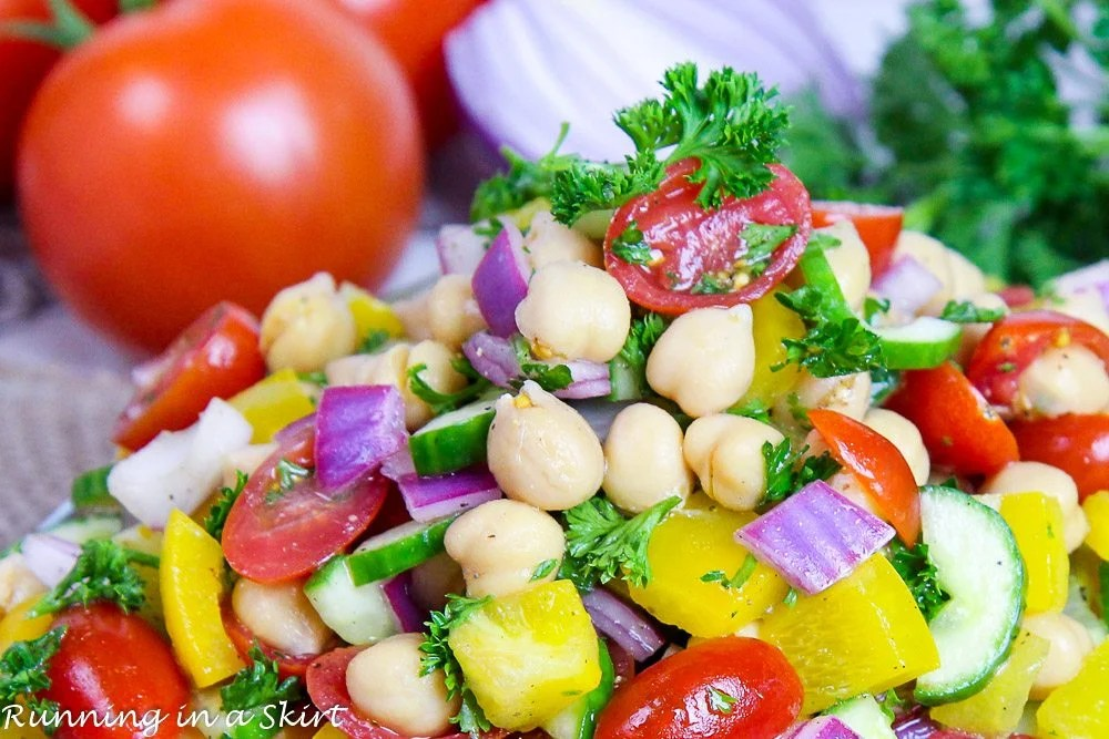 Healthy Rainbow Delicious Chickpea Salad recipe