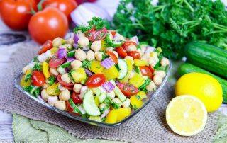 Healthy Rainbow Delicious Chickpea Salad recipe