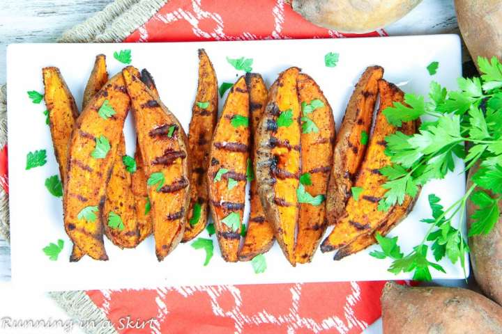 Healthy Southwest Grilled Sweet Potato Wedges recipe