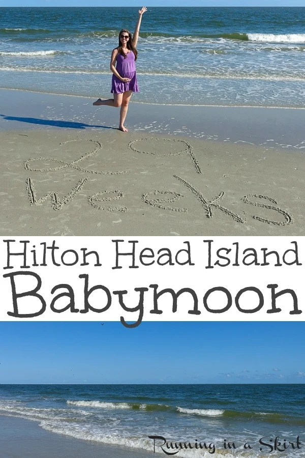 Hilton Head Island Babymoon Ideas - Things to Do and Restaurants to go to!  A great inexpensive East Coast vacation for the best babymoon.  Perfect for weekend getaways.  Includes beach activities from Sea Pines, Palmetto Dunes and romantic meals.  / Running in a Skirt