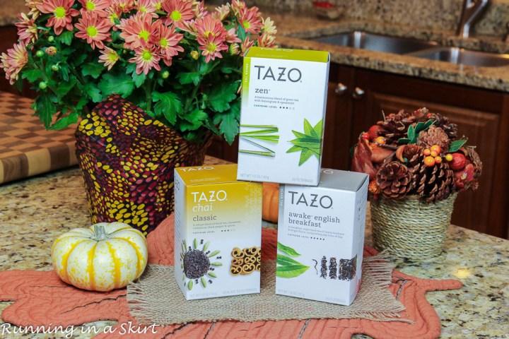 Boxes of Tazo.