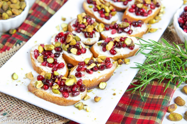 Pomegranate Crostini Recipe Easy Christmas Appetizers