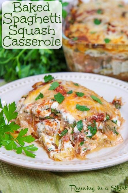 baked vegetarian spaghetti squash casserole recipe
