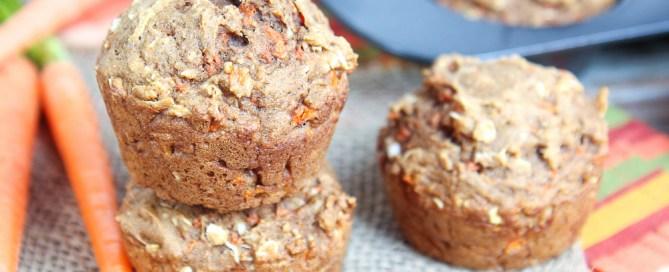 Applesauce Healthy Carrot Cake Muffins recipe