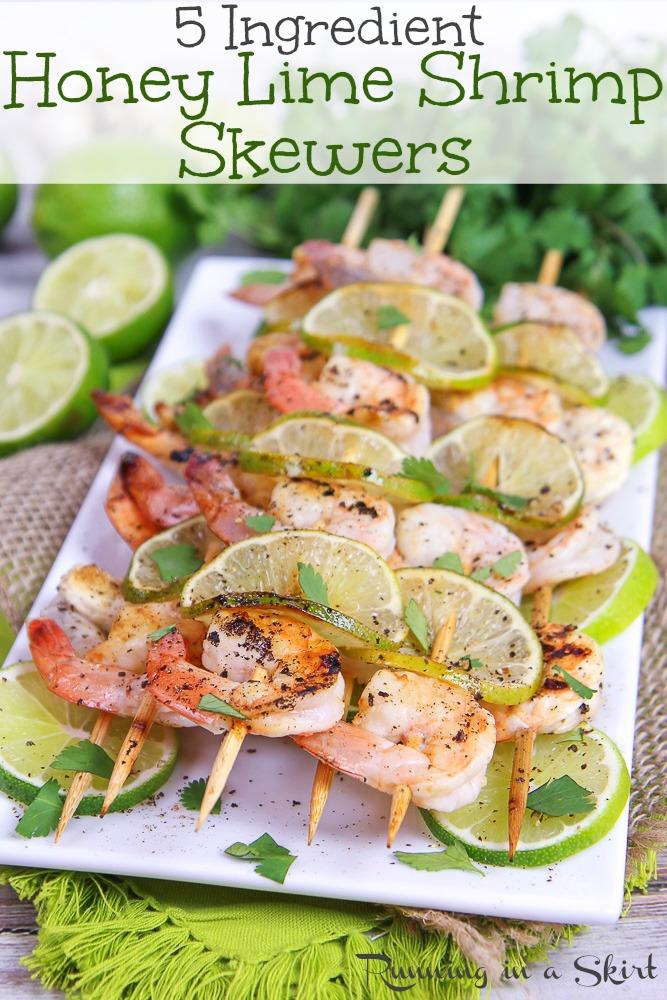 Honey Lime Shrimp Skewers recipe via @juliewunder