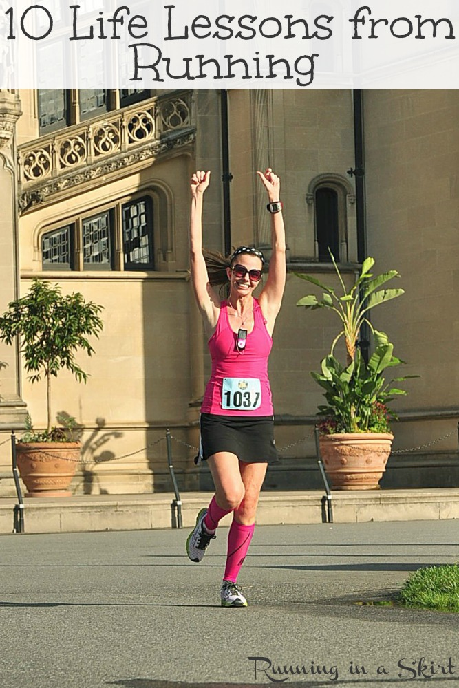 10 Life Lessons from Running - running inspiration and motivation to start and stay motivated.  / Running in a Skirt #running #fitness #healthyliving #run #runner #marathon #halfmarathon #10k #5k via @juliewunder