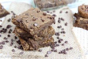 Peanut Butter Chocolate Chip Chickpea Blondie recipe