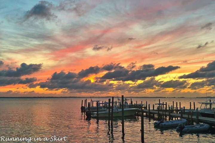 Sunset at Firefly resort on Elbow Cay Bahamas.