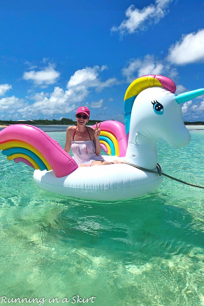 Unicorn float at Hopetown Bahamas.