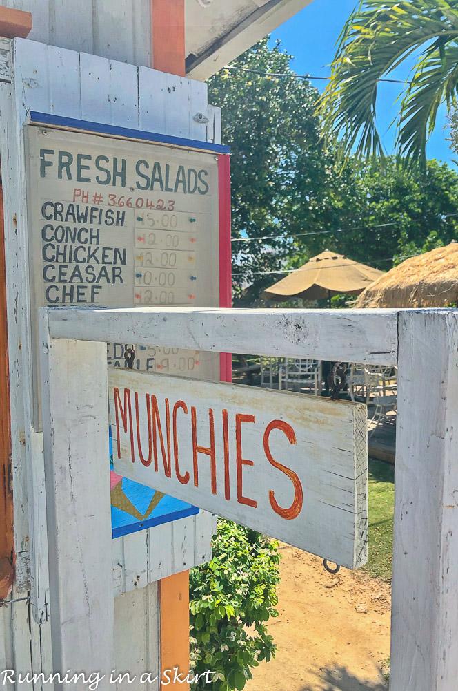 Munchies at Hopetown Bahamas.