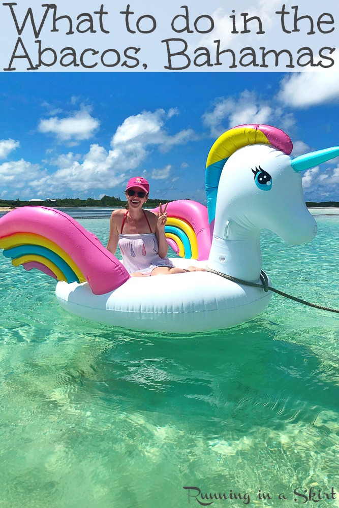 What to do in Hope Town Bahamas pinterest pin.