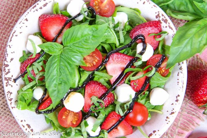 Copycat Panera Strawberry Caprese Salad recipe-