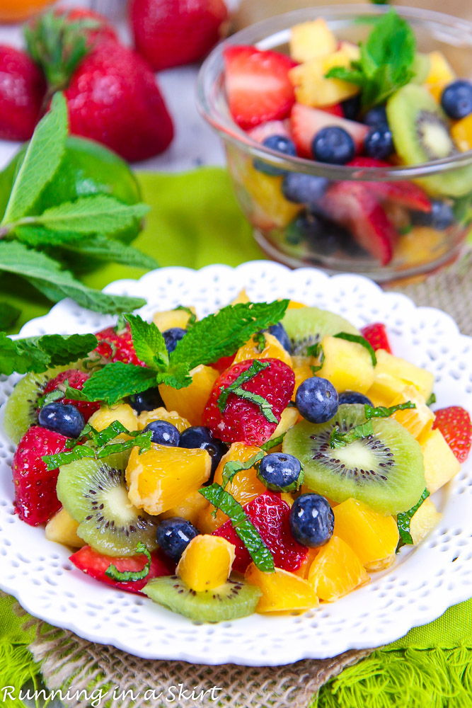 Honey Lime Rainbow Fruit Salad recipe