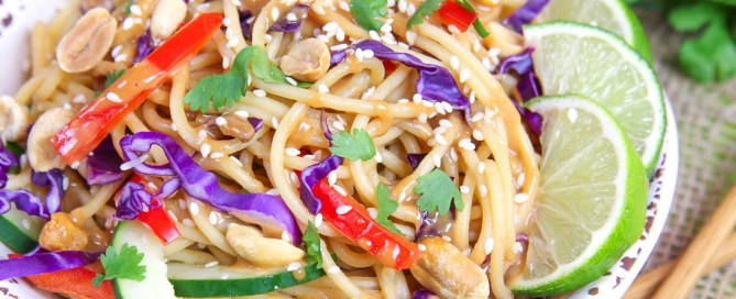 Vegan Thai Peanut Noodle Salad recipe