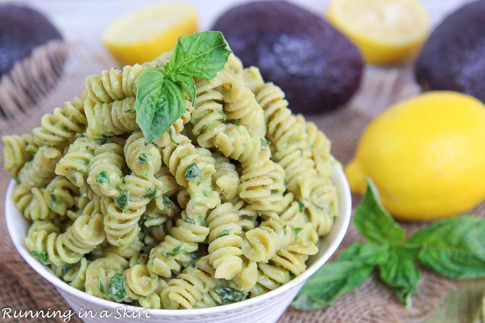 Bowl of pasta for dinner.