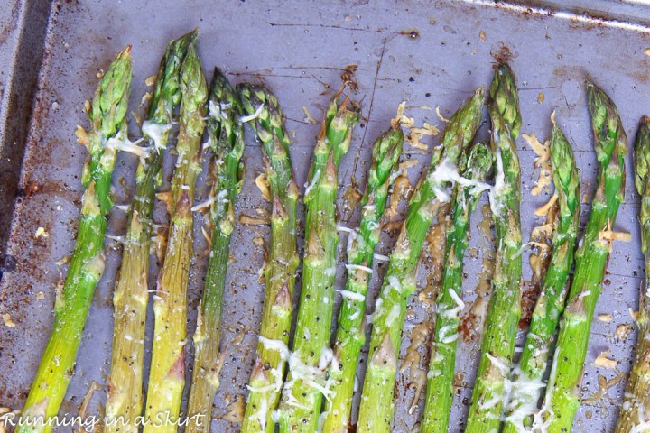 asparagus tops with garlic and parmesan
