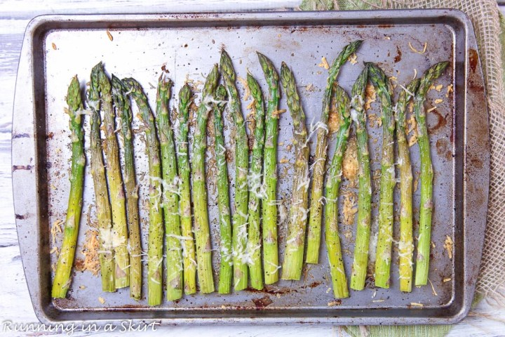 how to roast asparagus in the oven - use a sheet pan