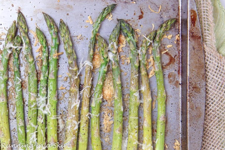 Easy Oven Roasted Asparagus on a sheet pan