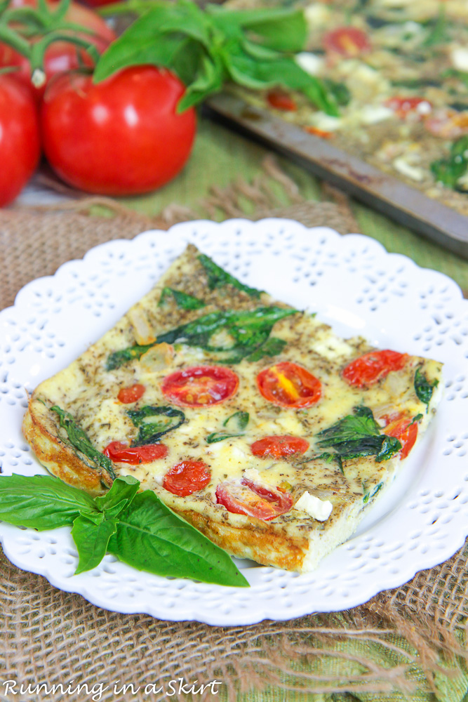 Healthy Vegetable Sheet Pan Frittata recipe