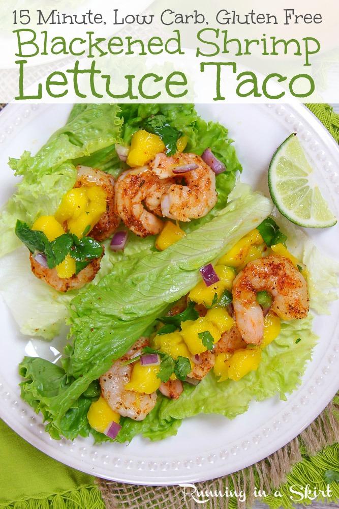 Lettuce Wrap Shrimp Tacos recipe pinterest pin