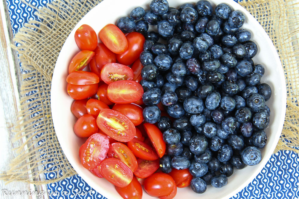 Tomato and blueberries.