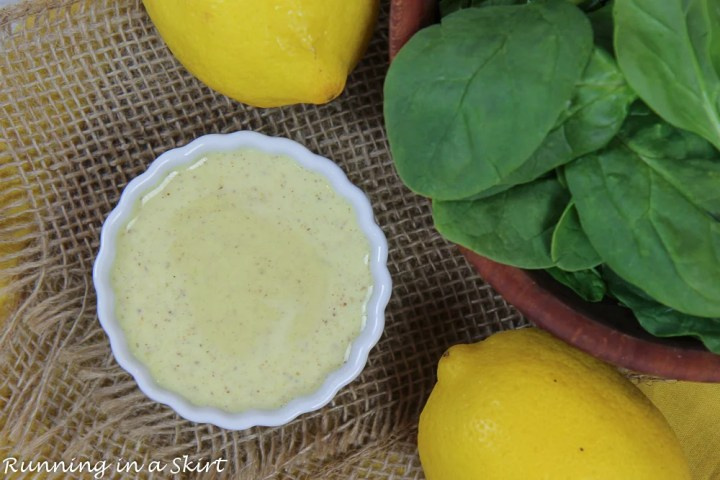 Spinach salad with lemons.