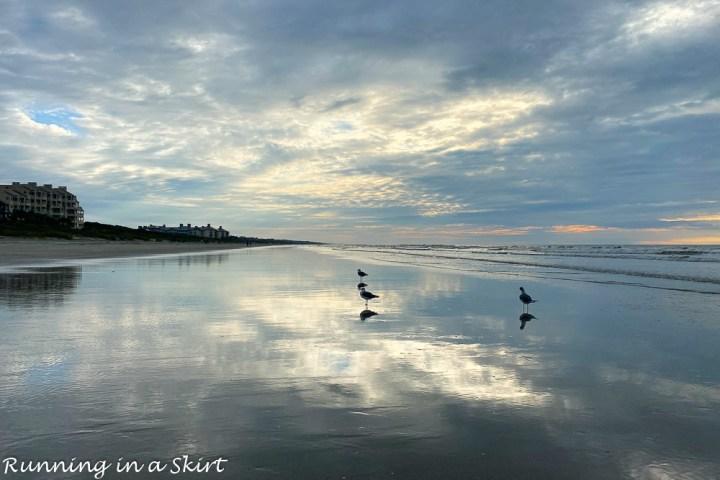 Beach sunrise Kiawah Island.