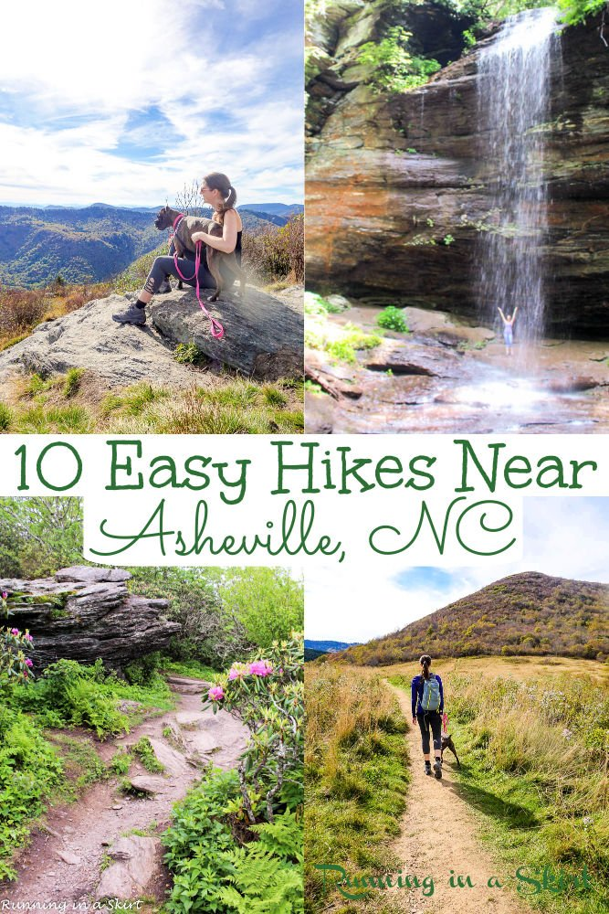 Best Hikes Near Asheville NC Pinterest pin collage.