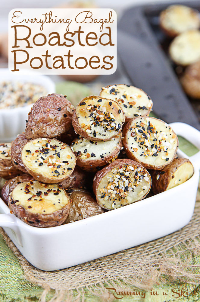 Everything But the Bagel Roasted Potatoes pinterest pin.