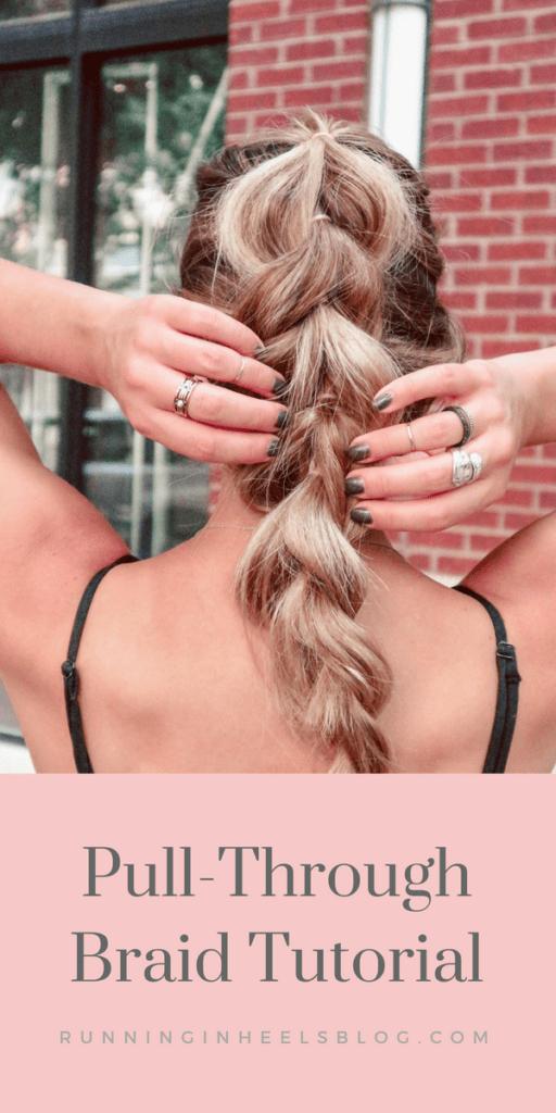 Pull-through braid tutorial, how-to do a pull-through braid