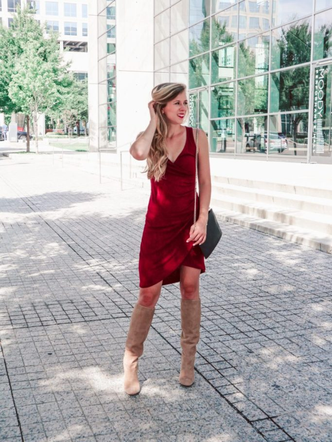 Nordstrom Anniversary Sale Early Access 2018 | Running in Heels | Sweater dress | fall outfit | red dress | knee high boots
