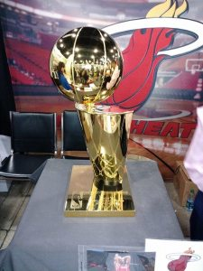 Winners of the race did not receive the Miami Heat trophy...